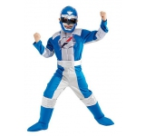 Power Ranger Blue Muscle Chest - licenční kostým